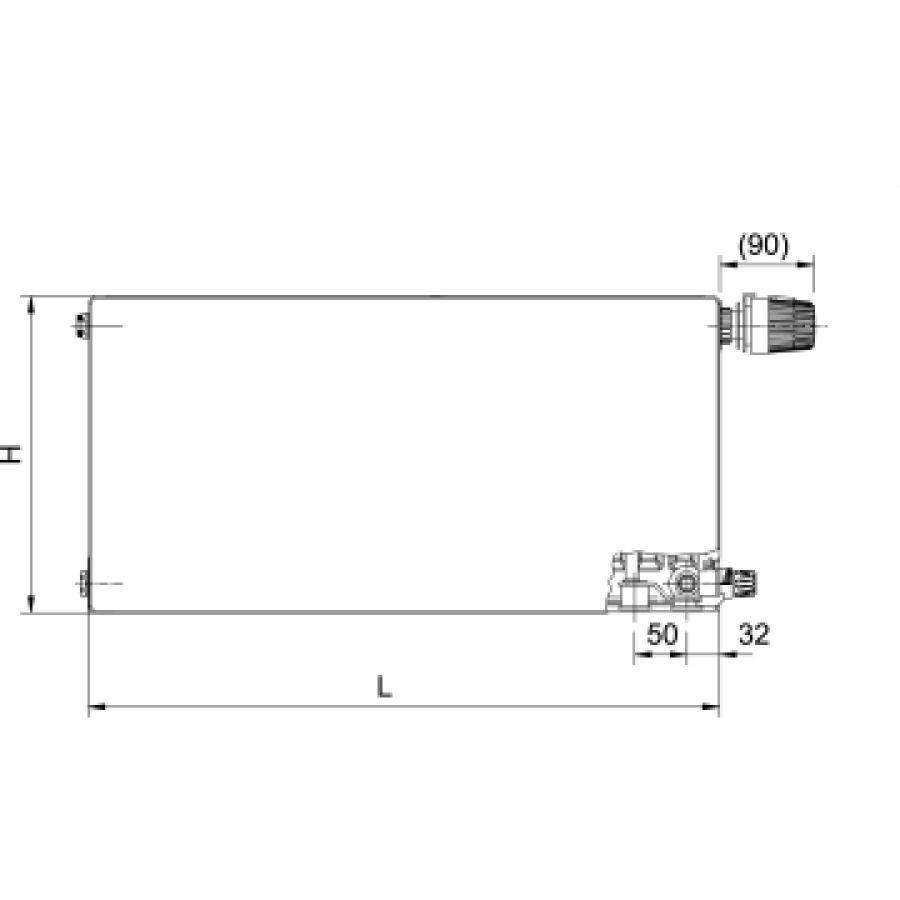 RADIK RC PLAN VK - Energy saving panel radiator with
